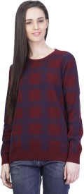Kalt Self Design Round Neck Casual Women's Sweater