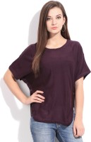 Flying Machine Solid Round Neck Casual Women's Sweater - SWTEY9SQGVPUCXUW