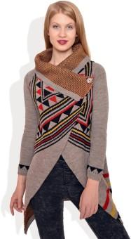Polka Dot Printed Turtle Neck Casual Women's Sweater