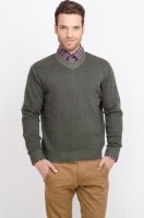 ALX New York Solid Crew Neck Casual Men's Sweater
