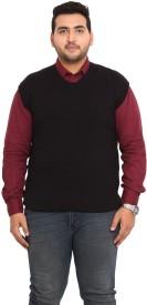 John Pride Solid V-neck Men's Sweater