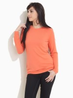 Femella Solid Round Neck Casual Women's Sweater