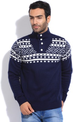 Puma Printed Round Neck Casual Men Sweater