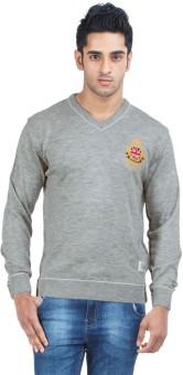 Zovi Solid Round Neck Casual Men's Sweater - SWTE2ZMQEQFWFEUG