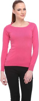 Club York Solid Round Neck Casual Women's Sweater - SWTE9S6GC2JE3JZA
