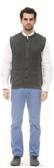 ALX New York Solid Round Neck Casual, Formal Men's Sweater