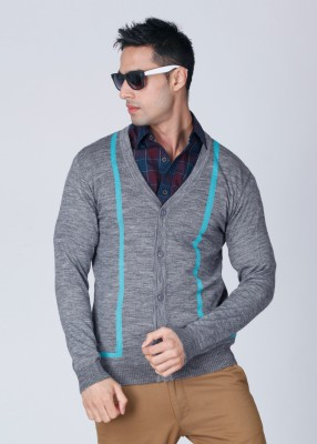 FREECULTR Solid V-neck Casual Men's Sweater