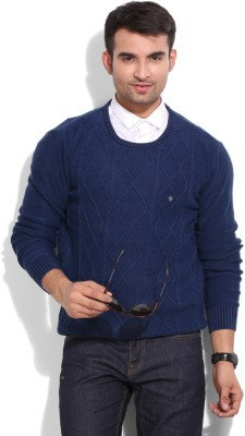Blackberrys Blackberrys Solid Casual Men's Sweater (Indigo)