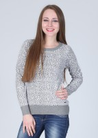 Pepe Printed Round Neck Casual Women's Sweater