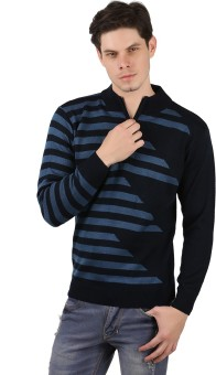 Freak'N Solid Round Neck Casual Men's Sweater