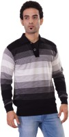 Pierre Carlo Striped Turtle Neck Casual Men's Sweater - SWTEY9UKRWXGQUYG