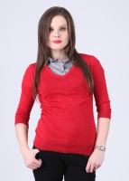 Arrow Solid V-neck Casual Women's Sweater