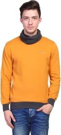 Tsavo Solid Turtle Neck Casual Men's Sweater