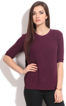 United Colors Of Benetton Solid Round Neck Casual Women's Sweater - SWTEY9SQ8UG6SVDA