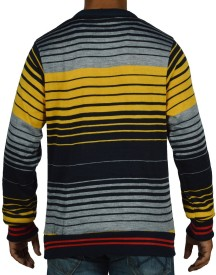 Pin Point Solid Round Neck Casual Men's Sweater