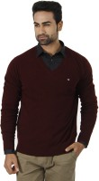 Arrow Solid V-neck Formal Men's Sweater - SWTEFGDUHKFYVFGG