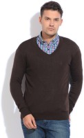 Indian Terrain Solid V-neck Casual Men's Sweater - SWTEYYTFHPUYWSTX
