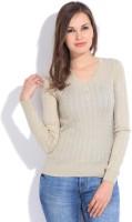 Numero Uno Solid Round Neck Casual Women's Sweater - SWTEFGFQHVSQX2KG