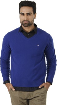 Arrow Solid V-neck Formal Men's Sweater - SWTEFGDUNSCGUNEZ