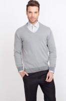 ALX New York Solid V-neck Casual Men's Sweater - SWTDSG8ZG8XPWQHW
