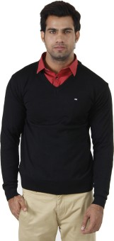 Arrow Solid V-neck Formal Men's Sweater - SWTEFGDUYH6GTNBE