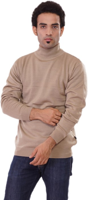 Pierre Carlo Solid Turtle Neck Casual Men's Sweater - SWTEY9UHD83ZNFSC