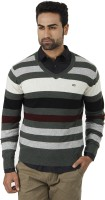 Arrow Striped V-neck Formal Men's Sweater