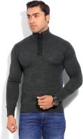 Indian Terrain Solid Round Neck Casual Men's Sweater - SWTEYARZZMRUR5RR