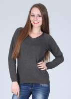 Pepe Solid V-neck Casual Women's Sweater