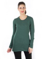 Again Solid Round Neck Casual Women's Sweater