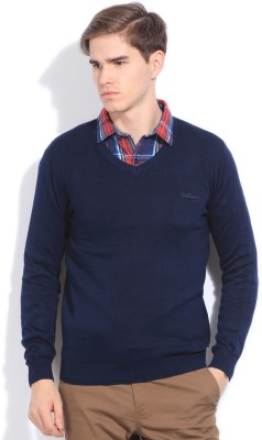 Van Heusen Sport Solid Vneck Casual Men Sweater