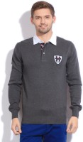 Being Human Clothing Striped Round Neck Casual Men's Sweater