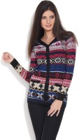 Jealous 21 Printed V-neck Casual Women's Sweater