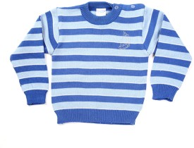 Zonko Style Striped Round Neck Casual Baby Boy's Sweater