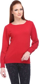 Club York Solid Round Neck Casual Women's Sweater - SWTE9S6GH7H3YJRG