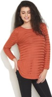 Gipsy Striped Boat Neck Casual Women's Sweater