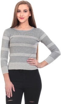 Saiints Striped Crew Neck Casual Women's Sweater