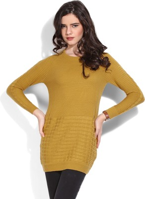 Duke Duke Solid Casual Women's Sweater (Yellow)