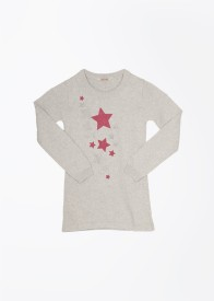 People Printed Round Neck Casual Girl's Sweater