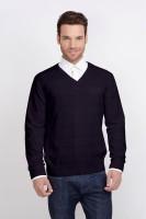ALX New York Solid V-neck Casual Men's Sweater - SWTDSG8ZENETZ5QJ