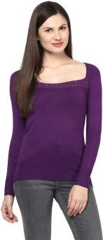 Harpa Solid Round Neck Women's Sweater