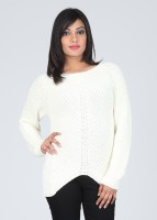 Elle Solid Round Neck Casual Women's Sweater
