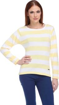Club York Striped Round Neck Casual Women's Sweater - SWTE9SZJKHJXFJMU