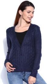 Mast & Harbour Self Design V-neck Casual Women's Sweater
