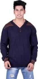 Jura Polo Solid V-neck Formal Men's Sweater
