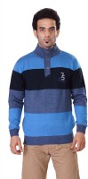 Pierre Carlo Striped Turtle Neck Casual Men's Sweater - SWTEY9UHDDMJRKHG
