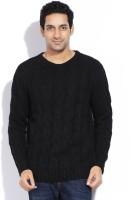 Nautica Solid Round Neck Casual Men's Sweater