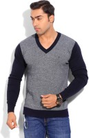 Indian Terrain Solid V-neck Casual Men's Sweater - SWTEYARZ2DU6NDZA