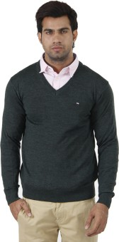 Arrow Solid V-neck Formal Men's Sweater