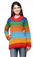 Madrona Printed Round Neck Casual Women's Sweater